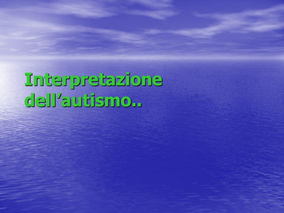Interpretazione dell'autismo..