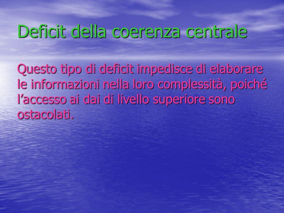 Deficit della coerenza centrale