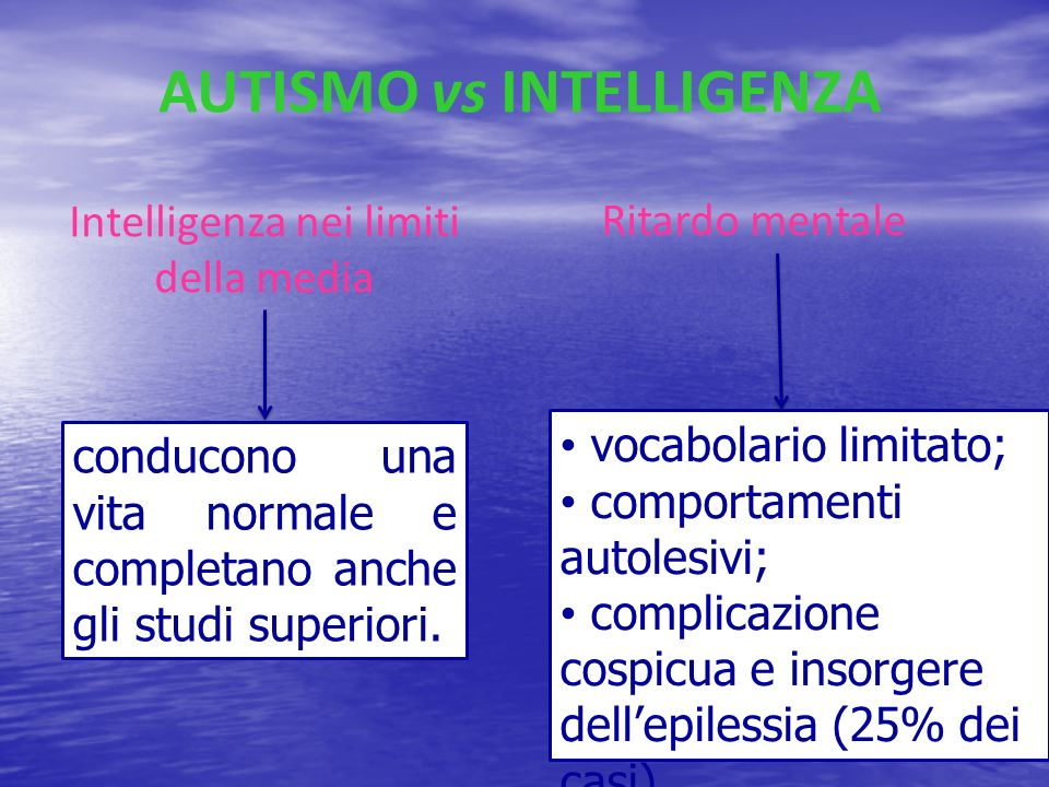 AUTISMO vs INTELLIGENZA