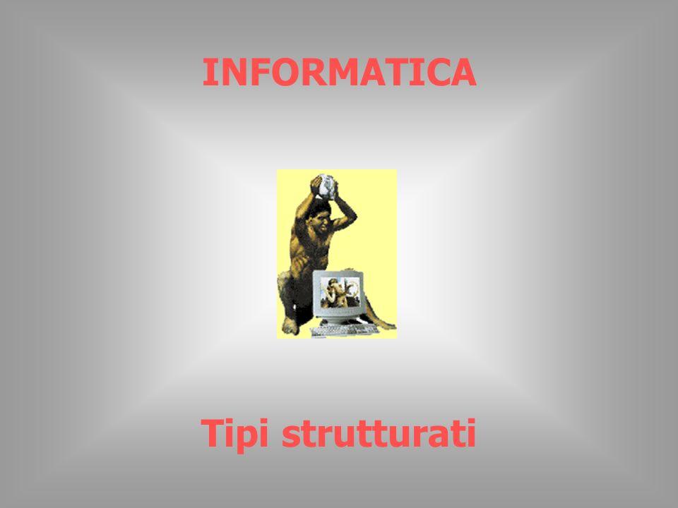 INFORMATICA Tipi strutturati