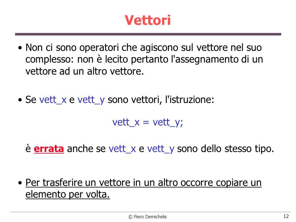 è errata anche se vett_x e vett_y sono dello stesso tipo.