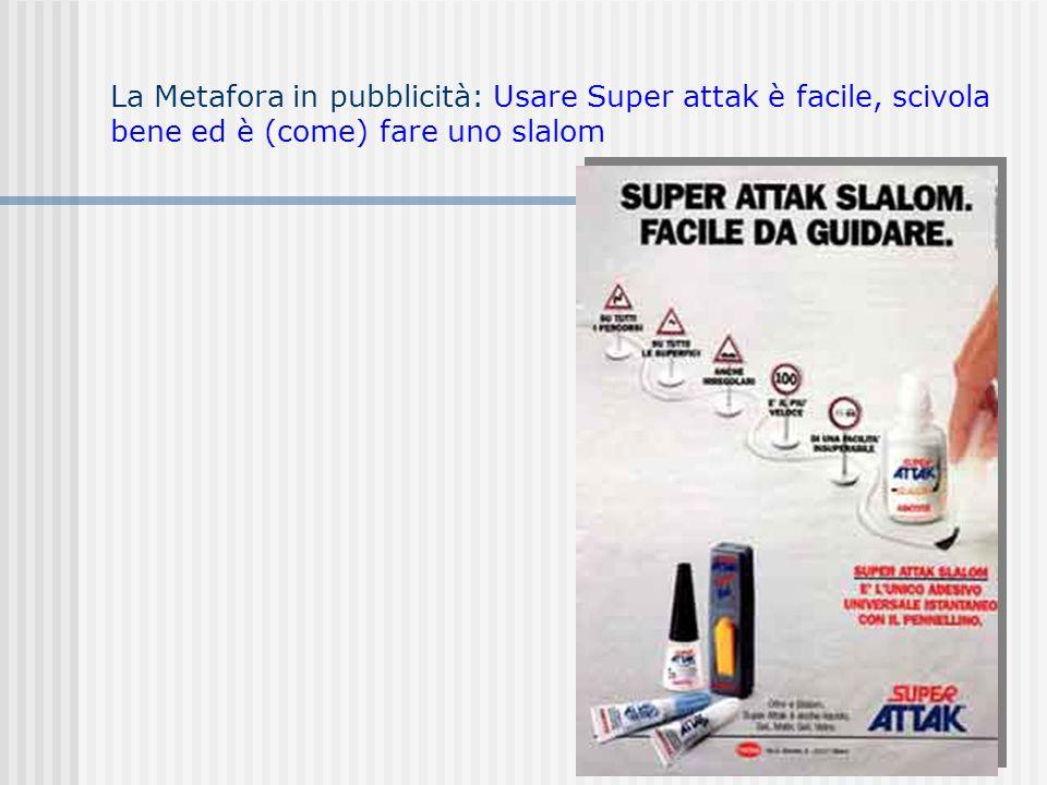 La Metafora in pubblicità: Usare Super attak è facile, scivola bene ed è (come) fare uno slalom