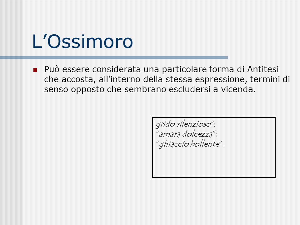 L'Ossimoro