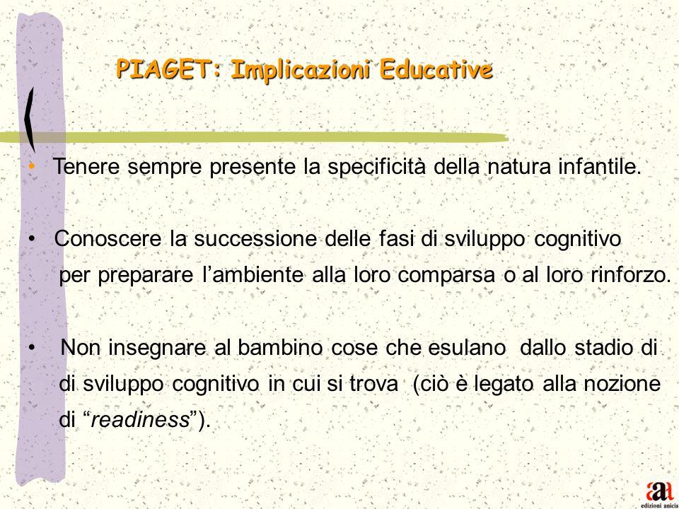 PIAGET: Implicazioni Educative