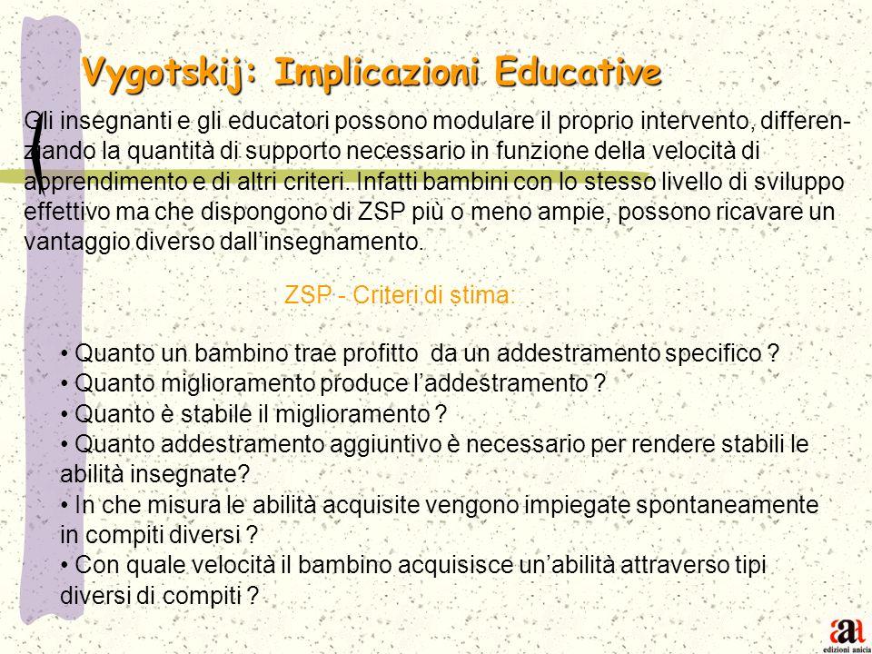 Vygotskij: Implicazioni Educative