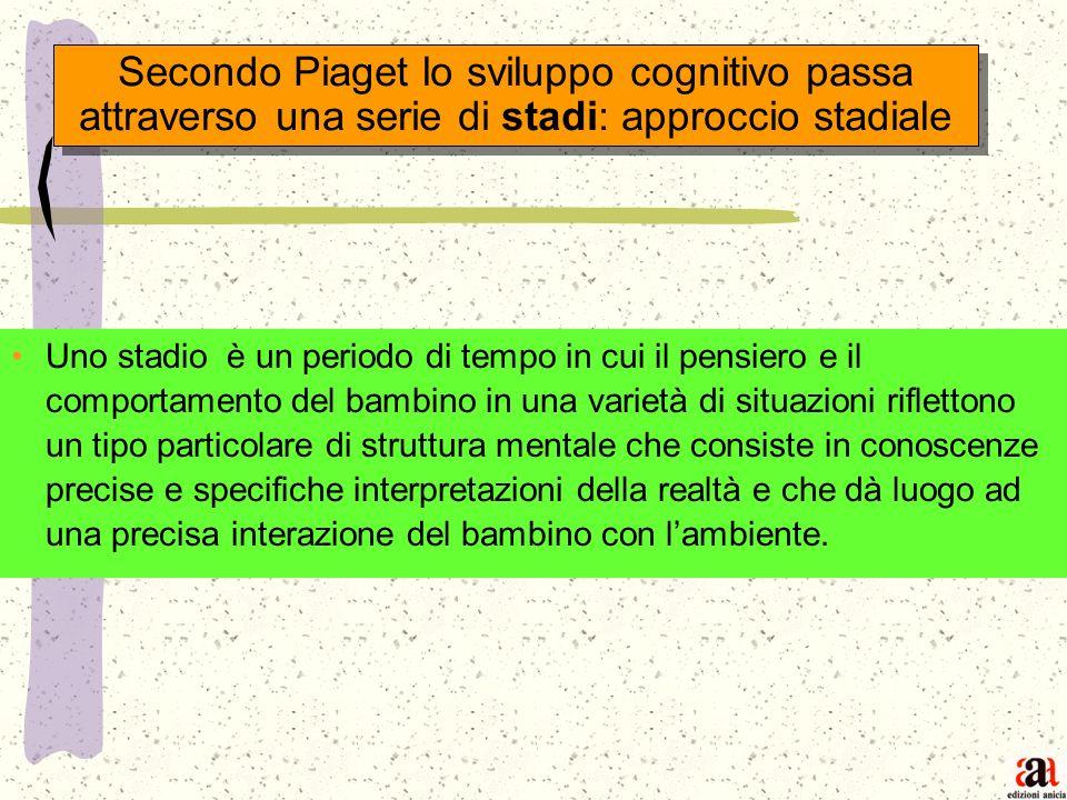 Secondo Piaget lo sviluppo cognitivo passa attraverso una serie di stadi: approccio stadiale