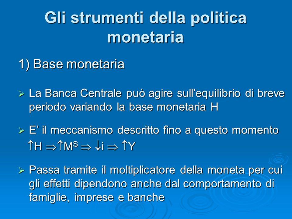 Gli strumenti della politica monetaria