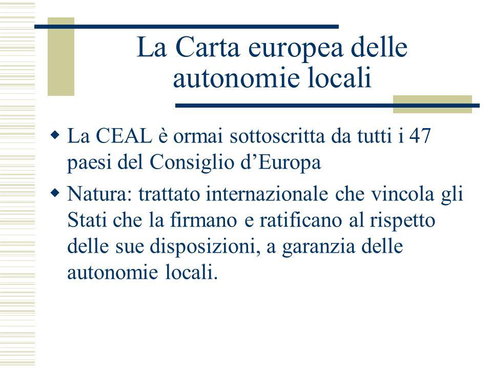 La Carta europea delle autonomie locali