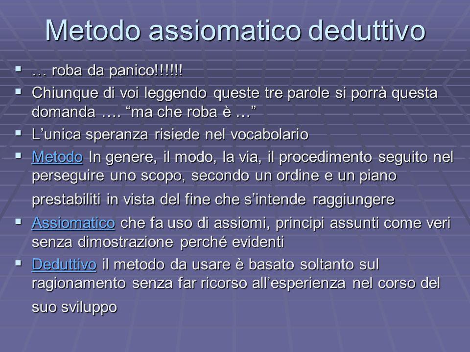 Metodo assiomatico deduttivo