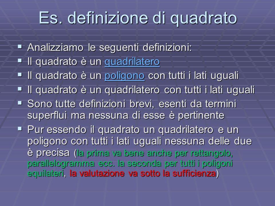 Es. definizione di quadrato