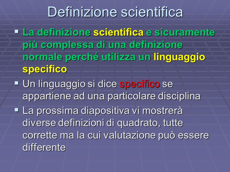 Definizione scientifica