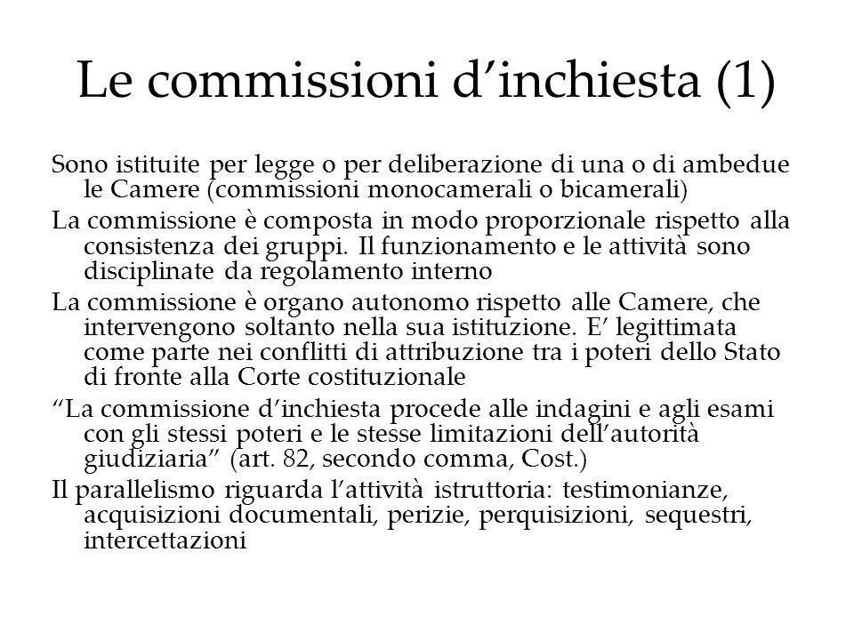 Le commissioni d'inchiesta (1)