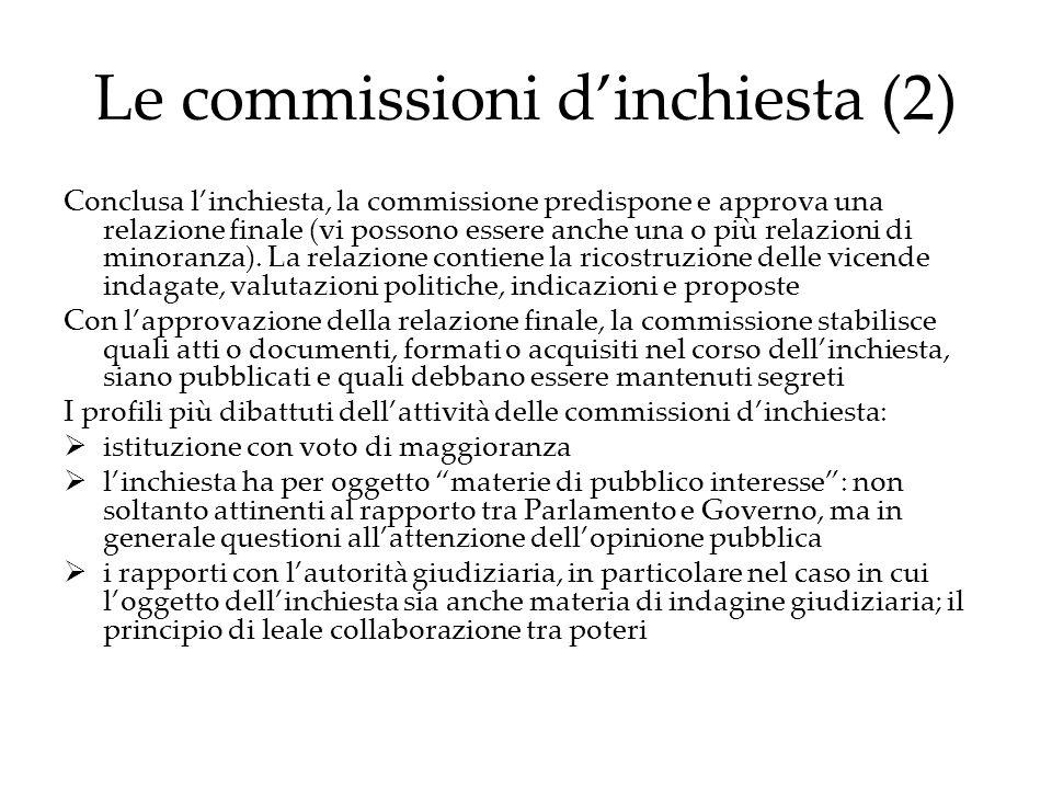 Le commissioni d'inchiesta (2)