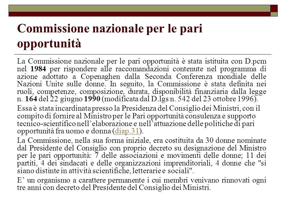Commissione nazionale per le pari opportunità
