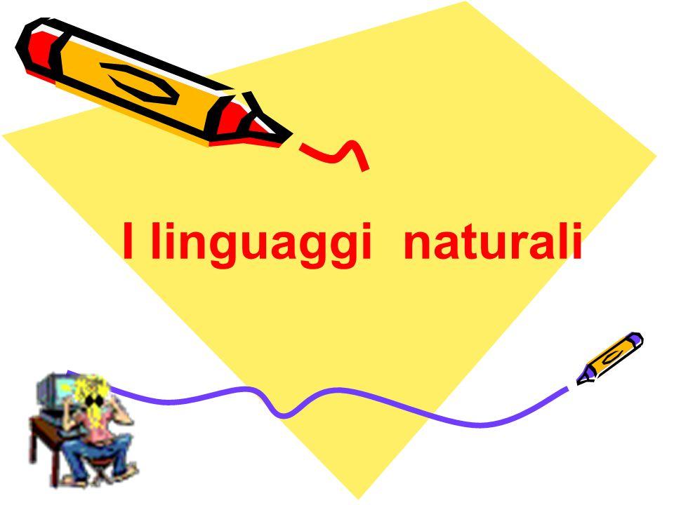I linguaggi naturali