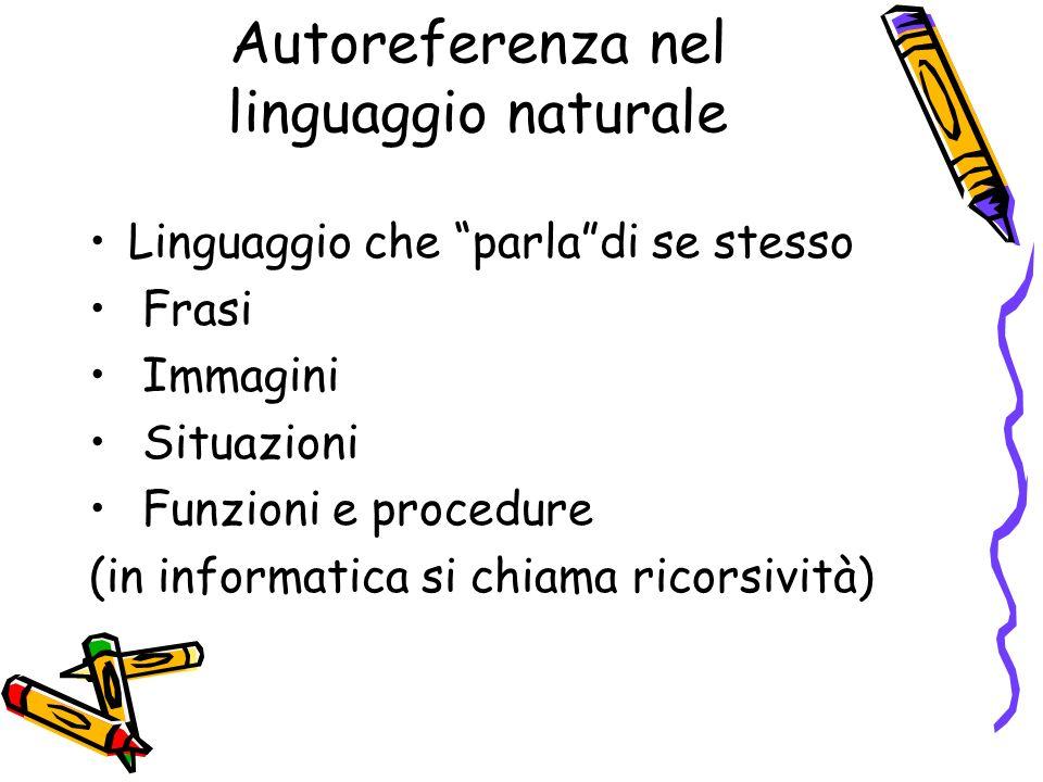 Autoreferenza nel linguaggio naturale