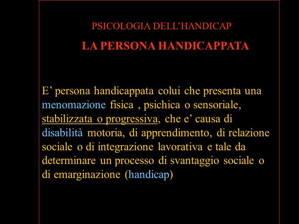 PSICOLOGIA DELL'HANDICAP
