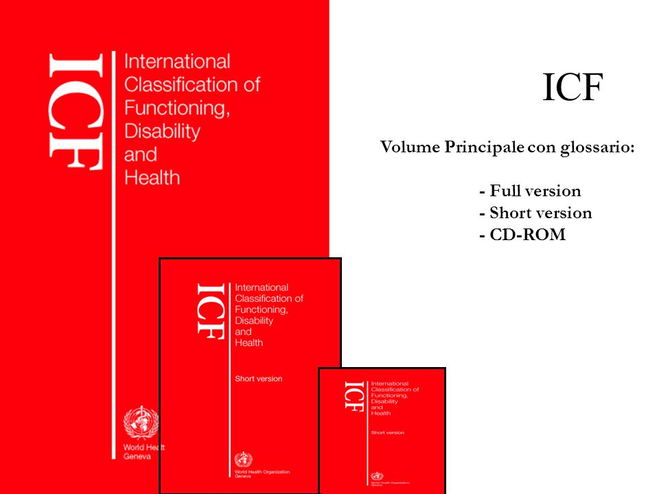 ICF Volume Principale con glossario: - Full version - Short version