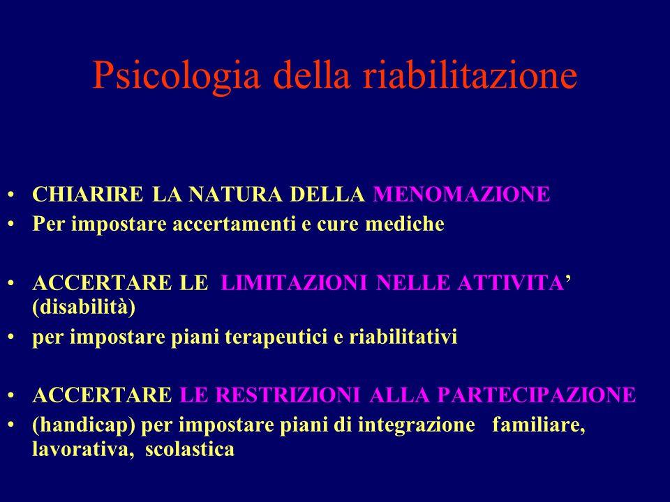 Psicologia della riabilitazione