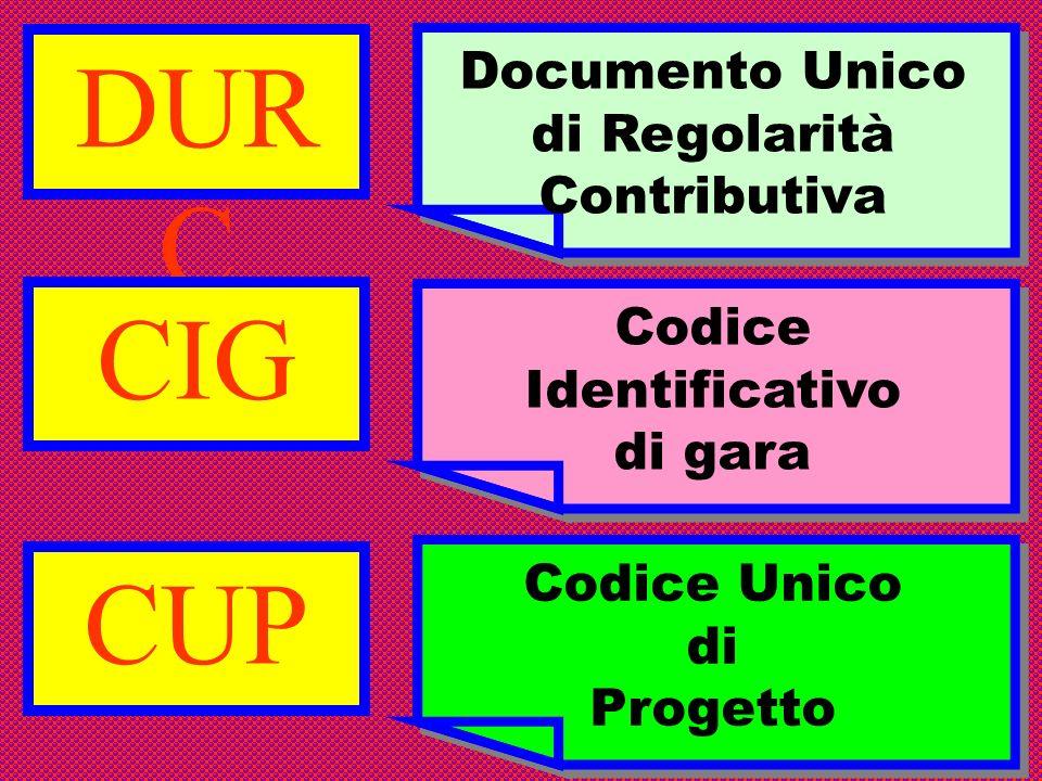 Documento Unico di Regolarità Contributiva Codice Identificativo