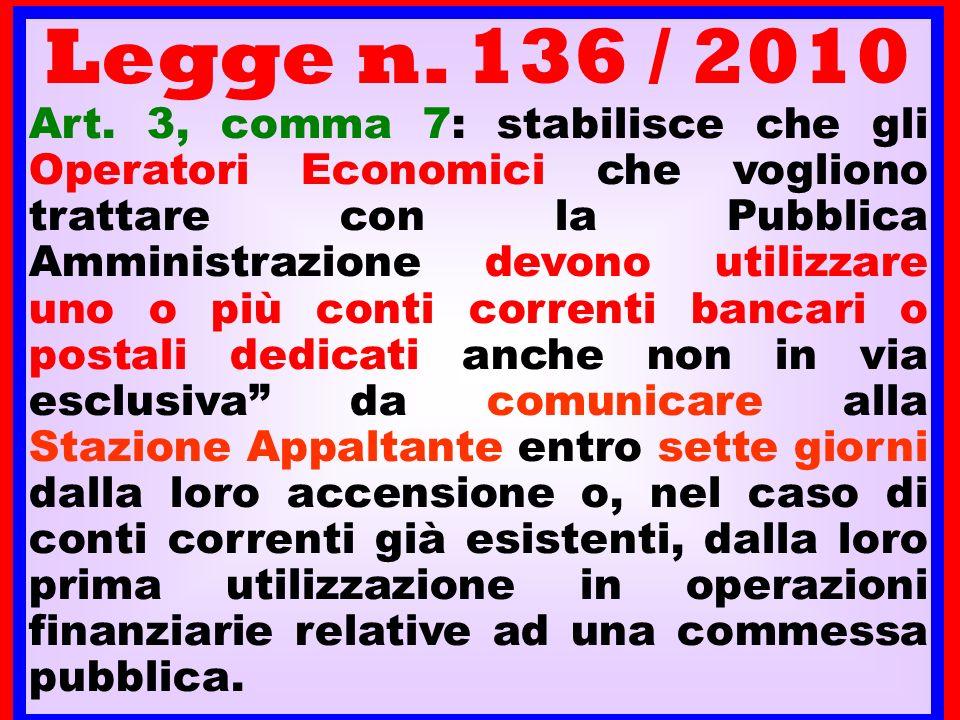 Legge n. 136 / 2010