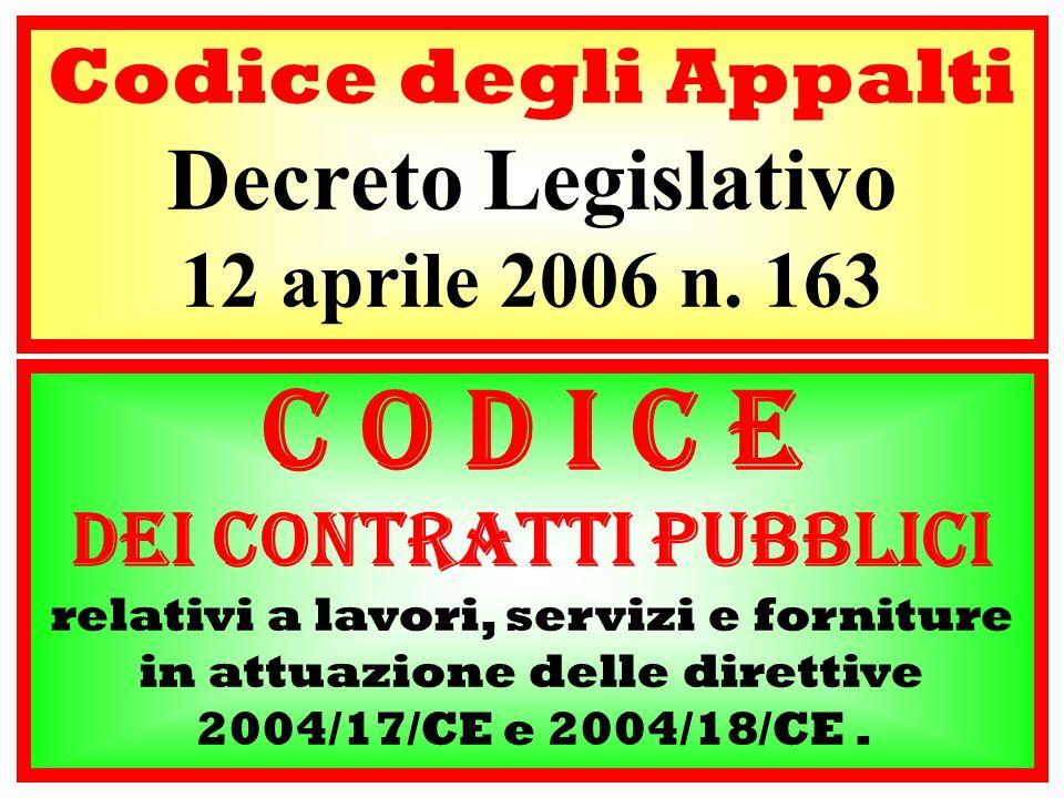 dei contratti pubblici