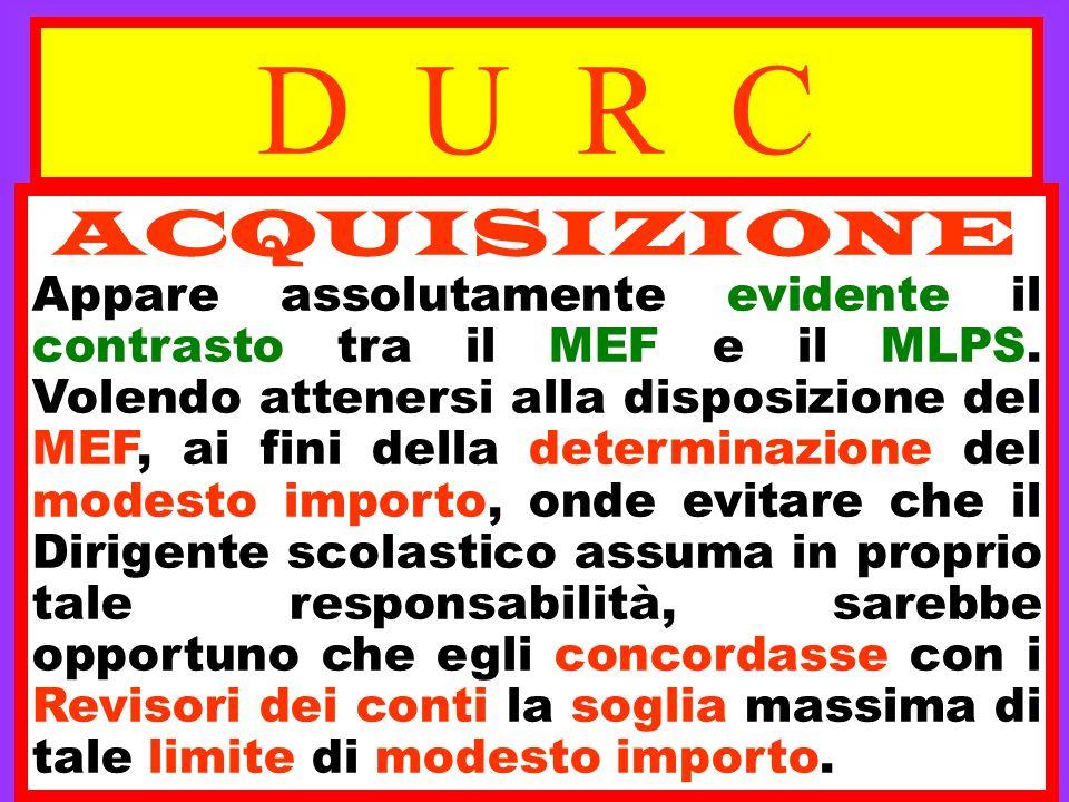 D U R C ACQUISIZIONE.