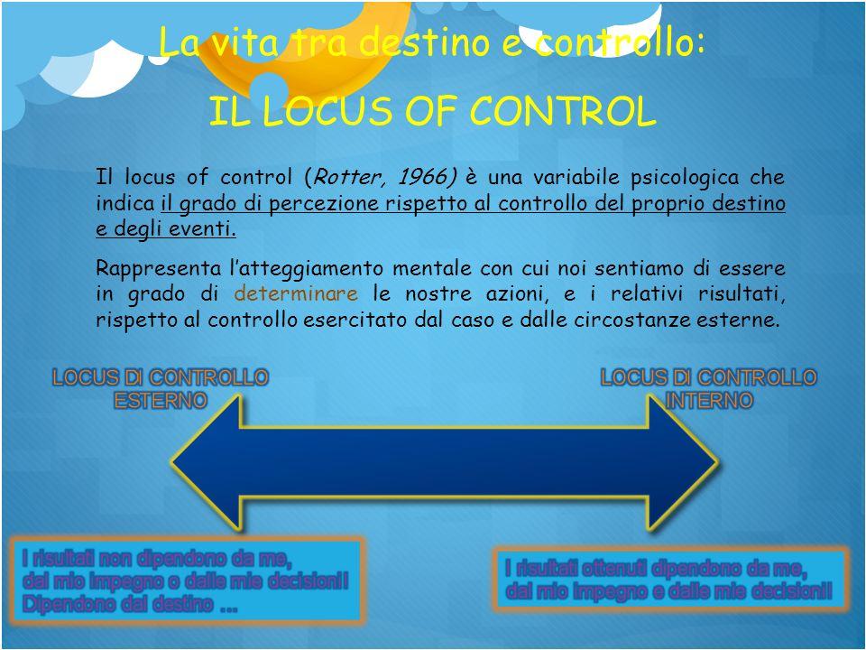 La vita tra destino e controllo: