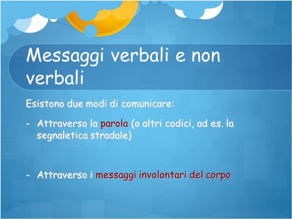 Messaggi verbali e non verbali