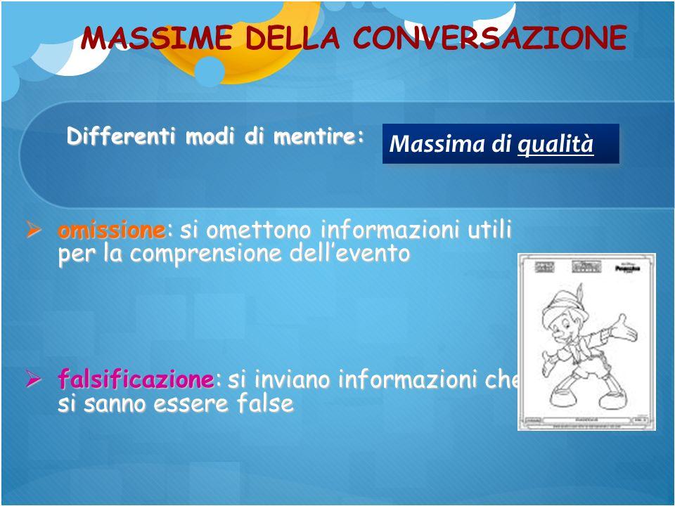 MASSIME DELLA CONVERSAZIONE