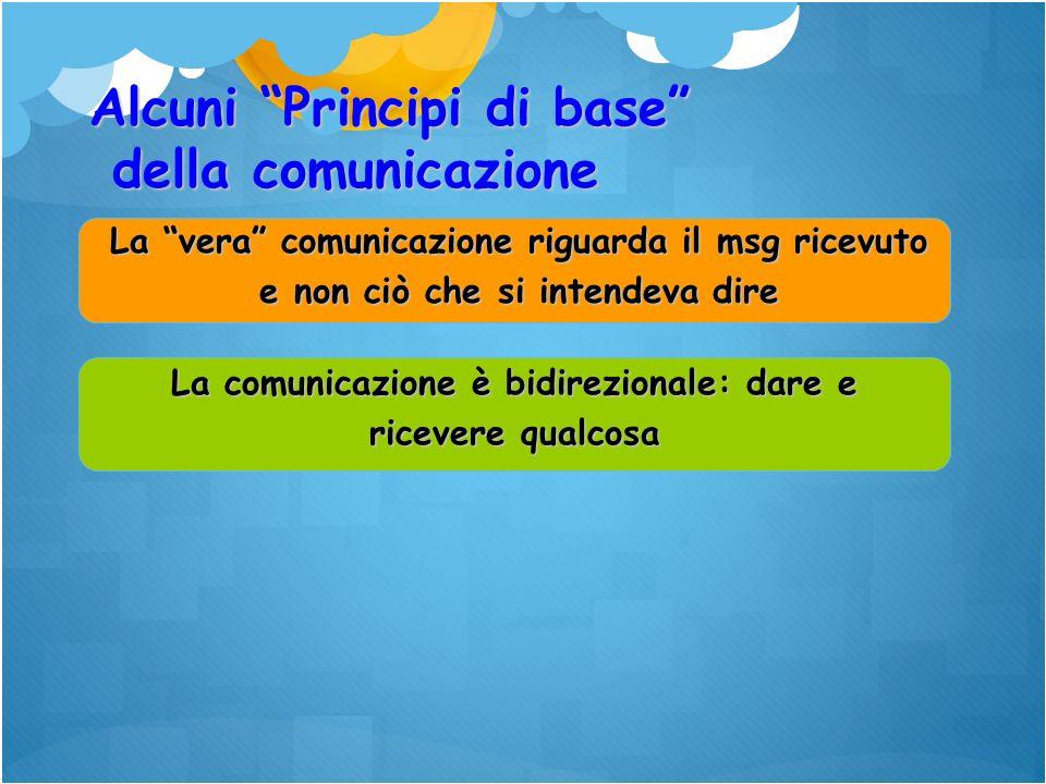 La comunicazione è bidirezionale: dare e ricevere qualcosa