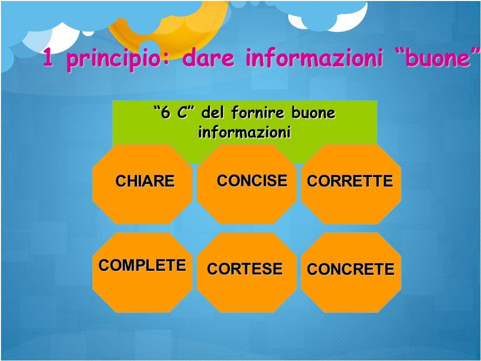 6 C del fornire buone informazioni