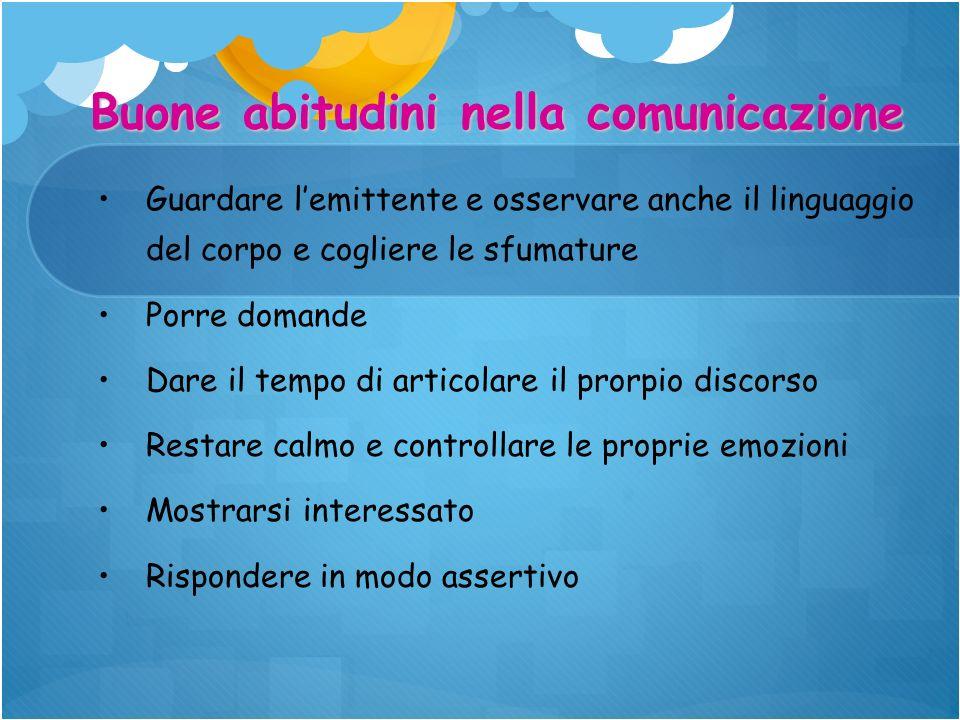 Buone abitudini nella comunicazione