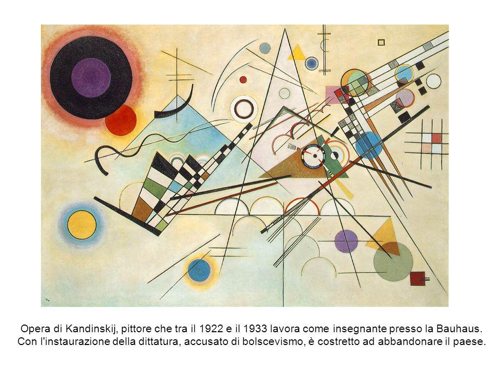 Opera di Kandinskij, pittore che tra il 1922 e il 1933 lavora come insegnante presso la Bauhaus.