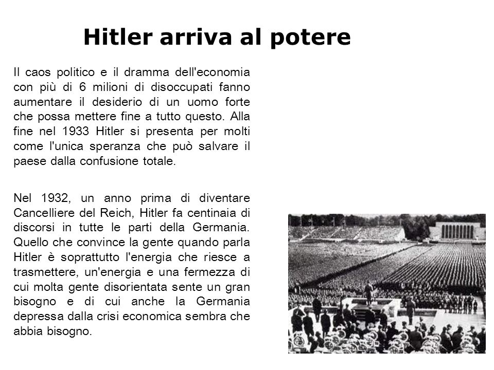 Hitler arriva al potere