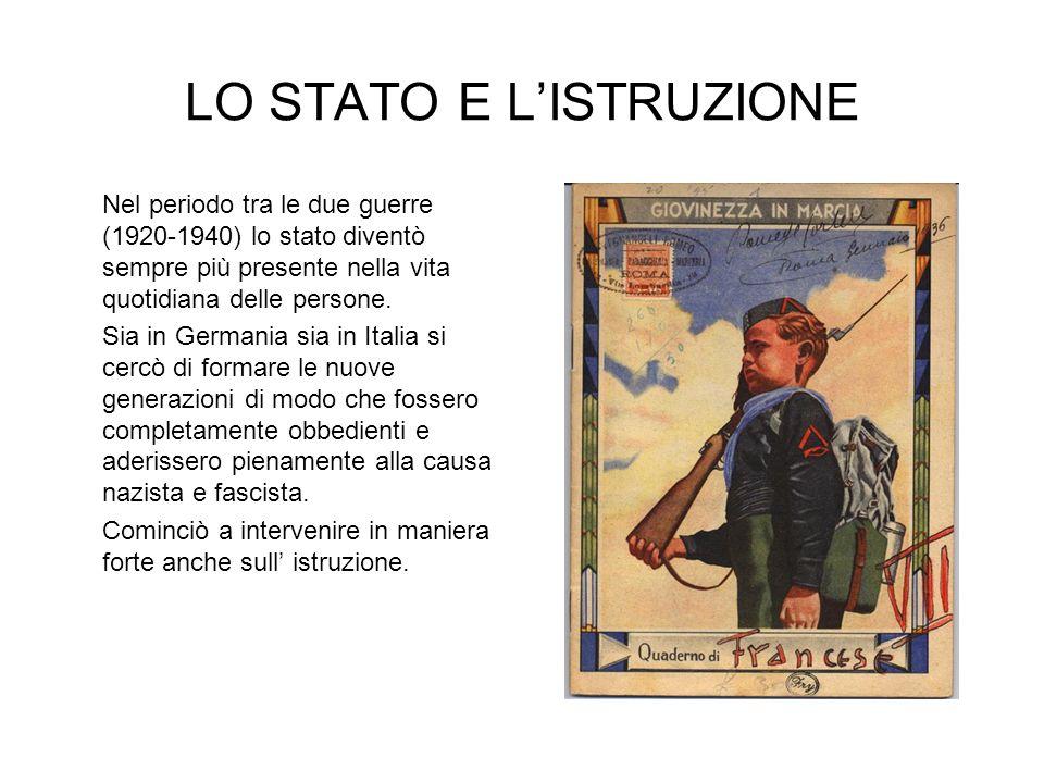 LO STATO E L'ISTRUZIONE
