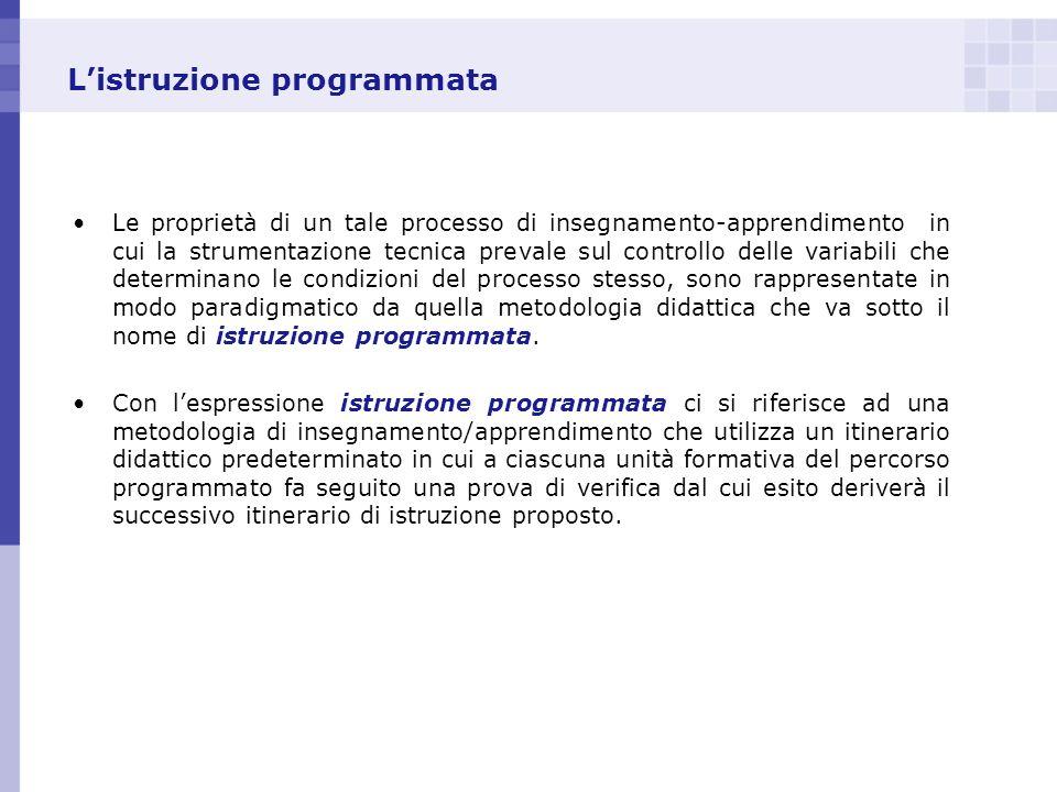 L'istruzione programmata