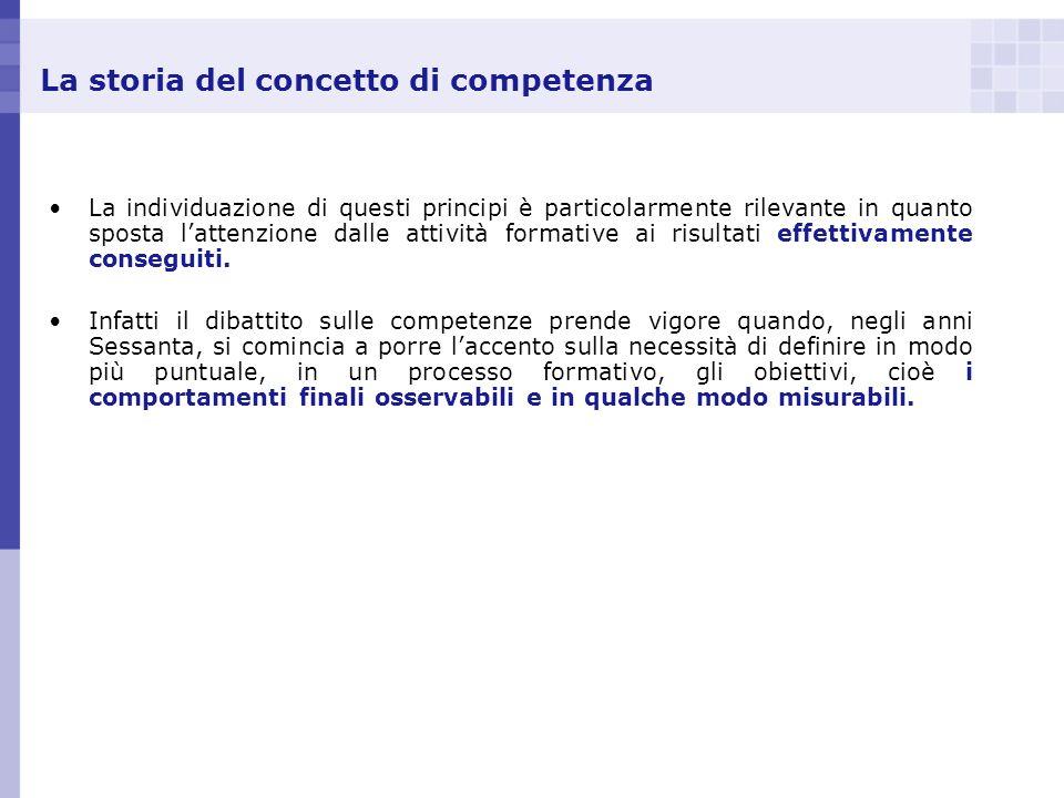 La storia del concetto di competenza