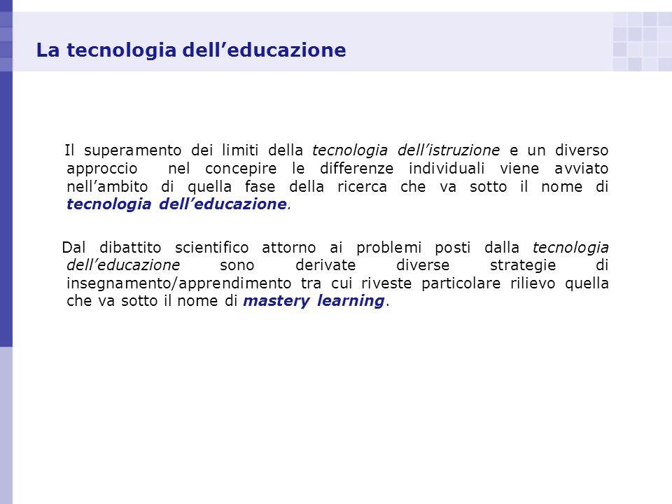La tecnologia dell'educazione