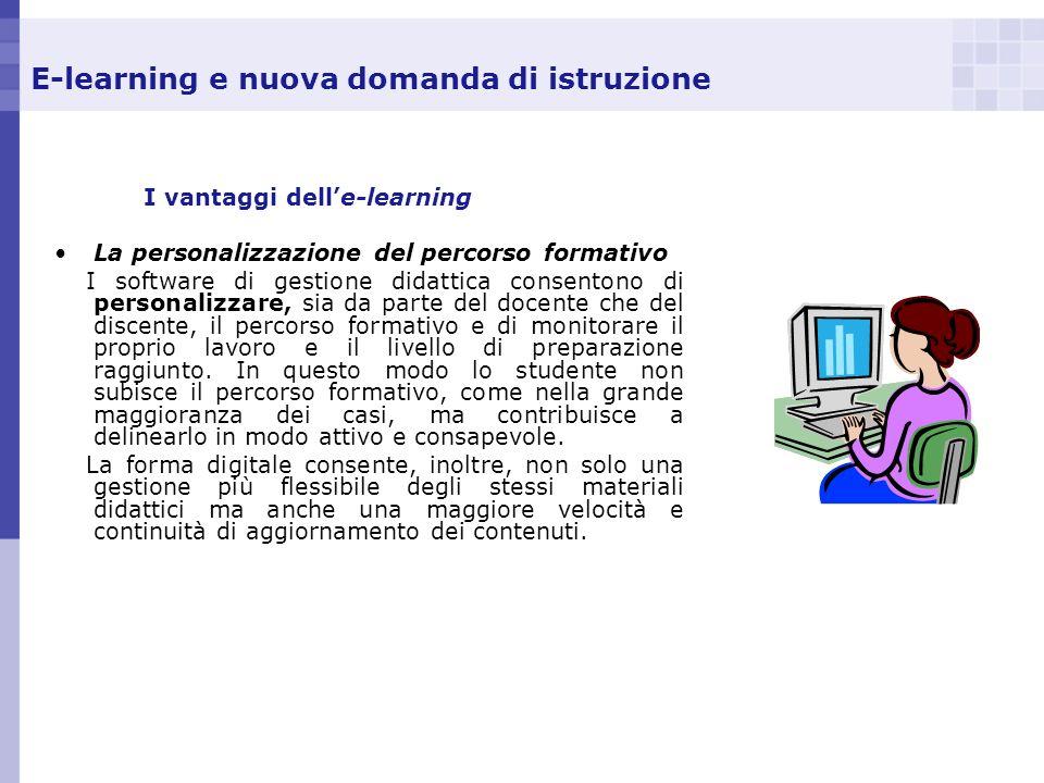 E-learning e nuova domanda di istruzione