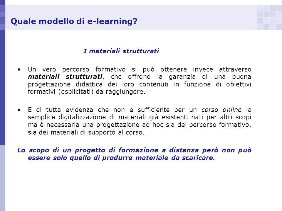 Quale modello di e-learning