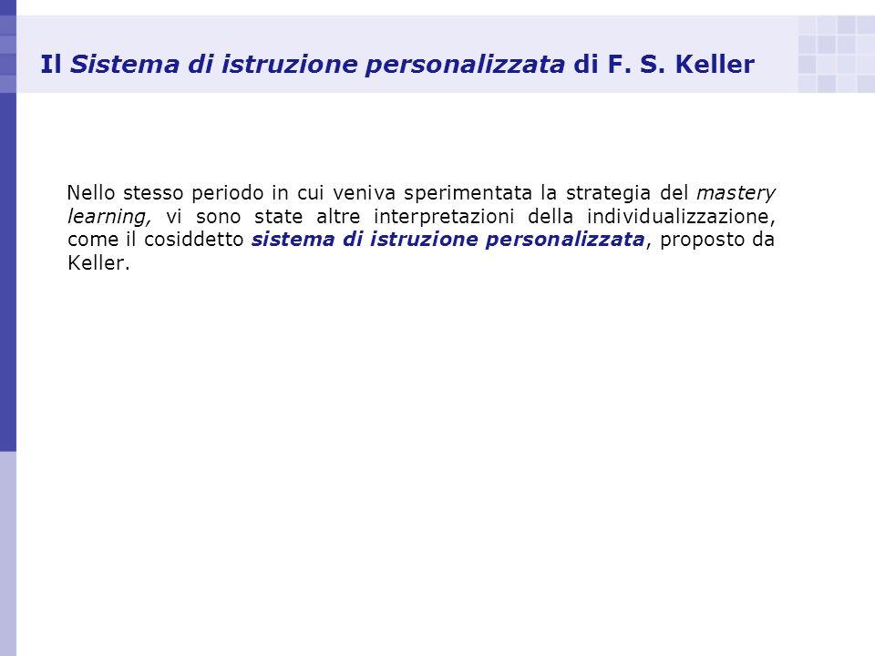 Il Sistema di istruzione personalizzata di F. S. Keller