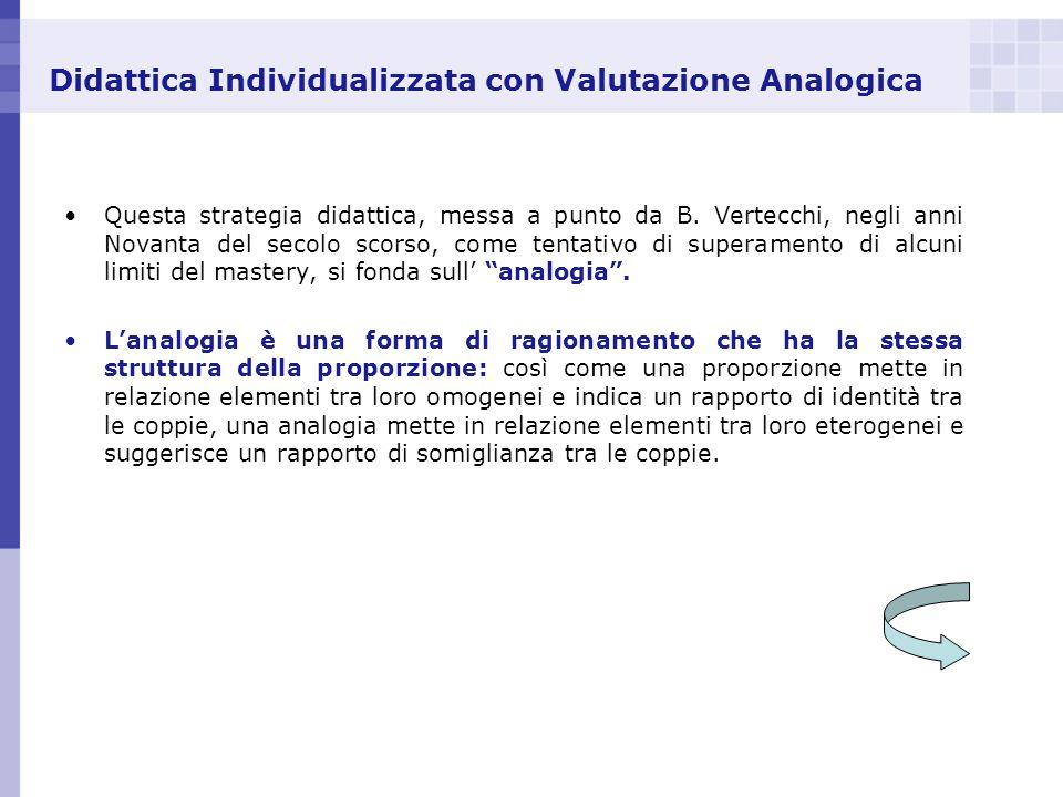 Didattica Individualizzata con Valutazione Analogica