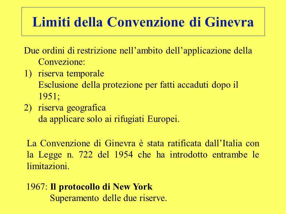 Limiti della Convenzione di Ginevra