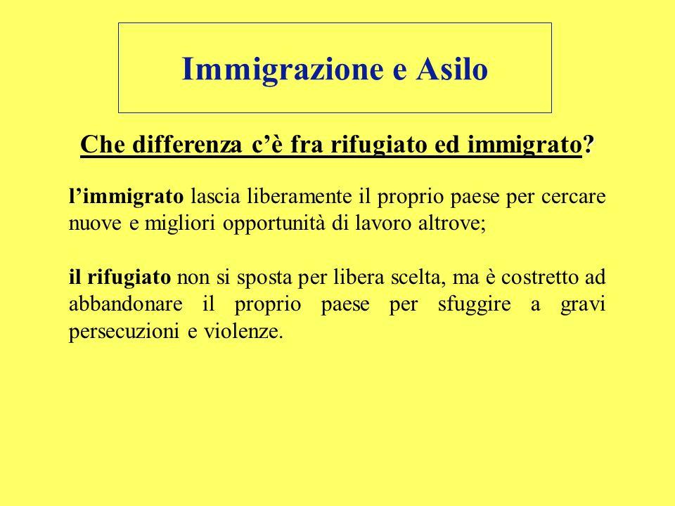 Che differenza c'è fra rifugiato ed immigrato