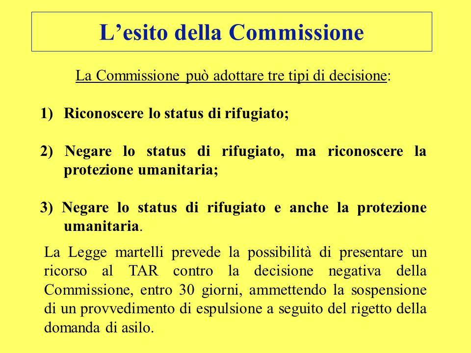 L'esito della Commissione