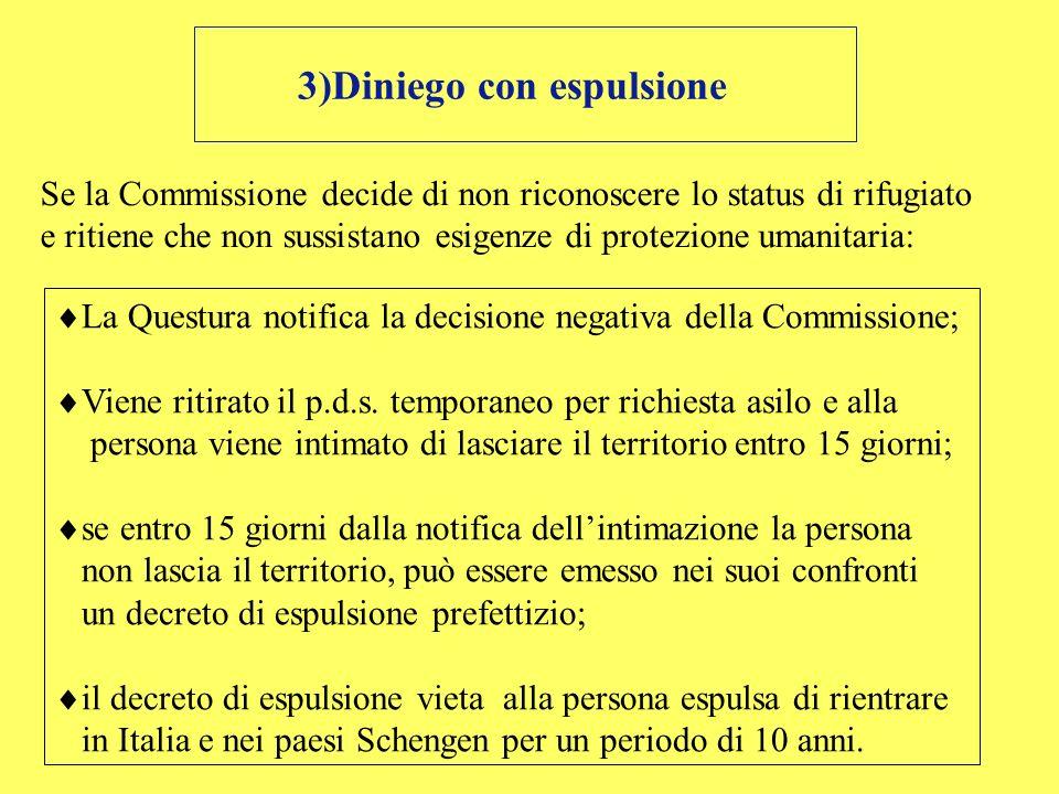 3)Diniego con espulsione
