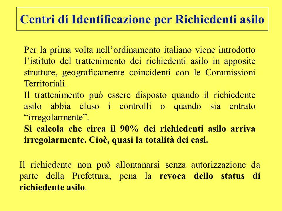 Centri di Identificazione per Richiedenti asilo
