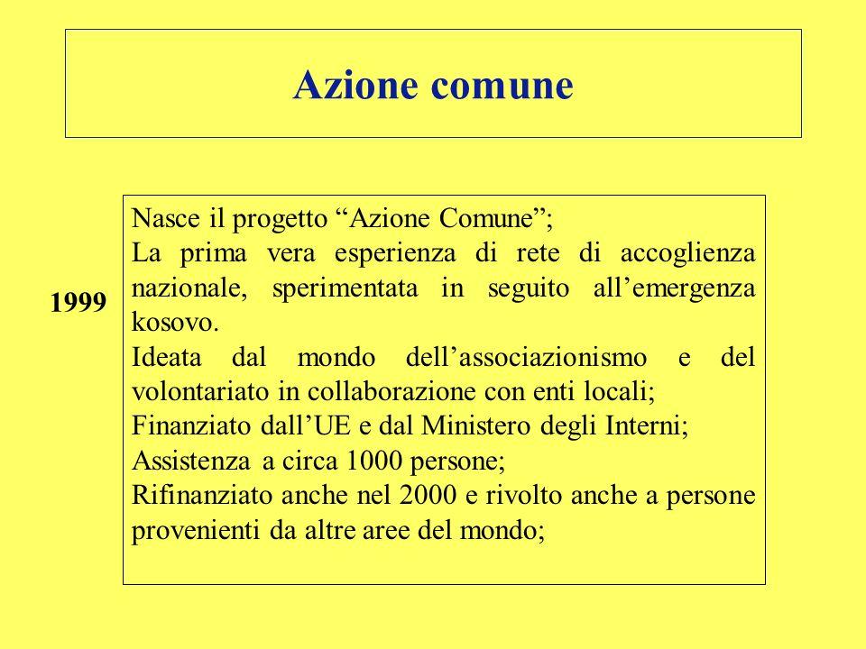 Azione comune Nasce il progetto Azione Comune ;