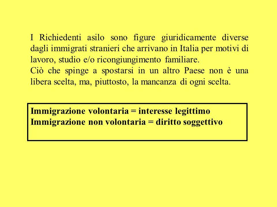 I Richiedenti asilo sono figure giuridicamente diverse dagli immigrati stranieri che arrivano in Italia per motivi di lavoro, studio e/o ricongiungimento familiare.
